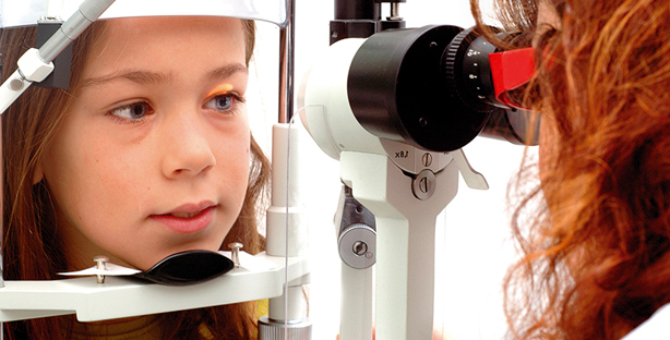 Image of a girl getting an eye examination